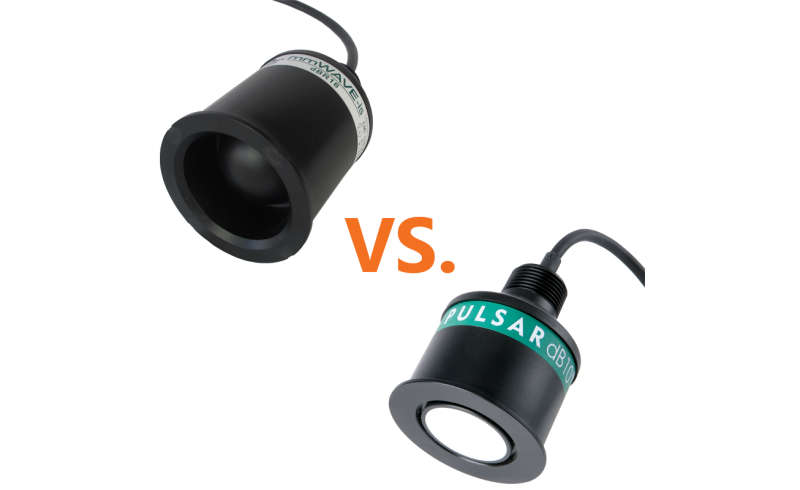 Pulsar dBR16 mmWAVE Radar transducer vs. the Pulsar dB10 Ultrasonic transducer