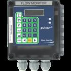 Flow Monitor front facing pipe flow measurement display
