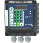 Pulsar Flow Monitor front-facing pipe flow measurement display