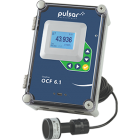 Greyline OCF 6.1 open channel flow meter with a flume or weir and tank level meter from Pulsar Measurement
