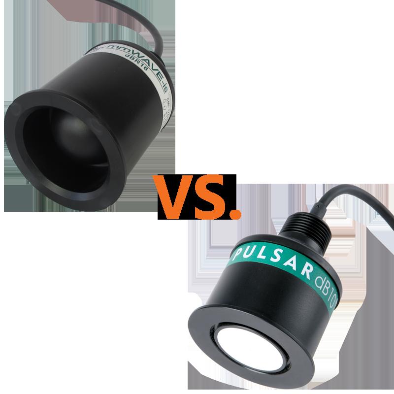 Pulsar dBR16 mmWAVE Radar transducer vs. the Pulsar dB10 Ultrasonic transducer