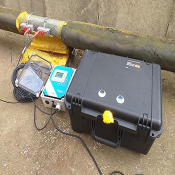 TTFM measuring pipe flow